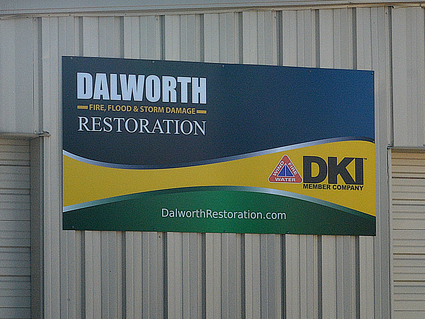 Dalworth Building Front Sign