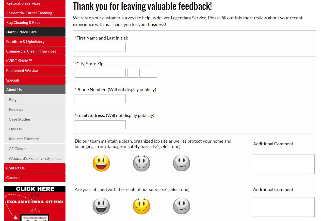 Dynamic Survey System with Smiley Faces