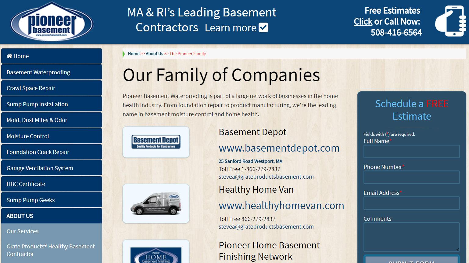 Companies Page