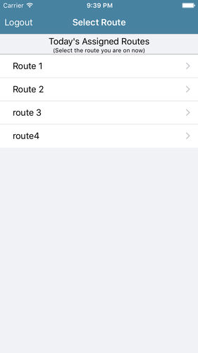 Selecting routes