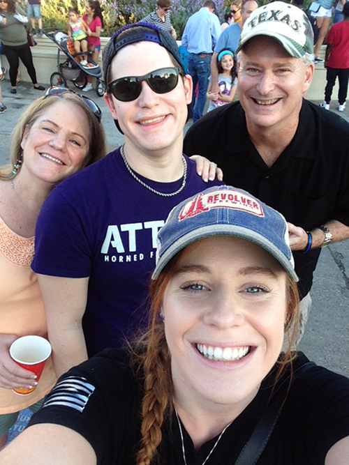 With family at State Fair