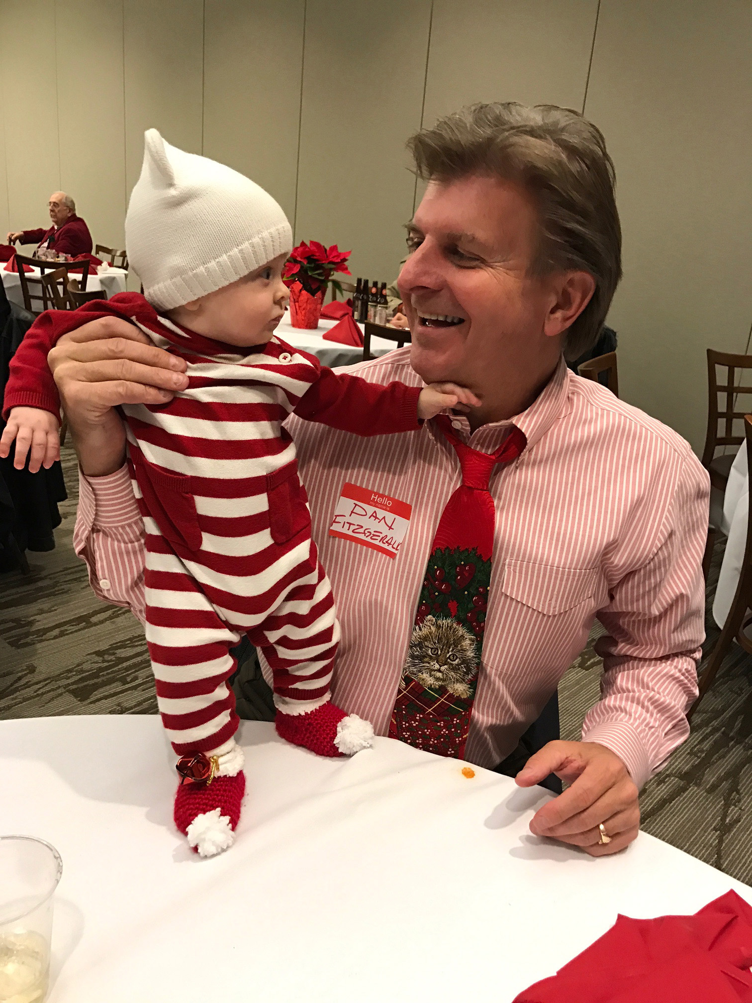 Grandson Liam's first Christmas party